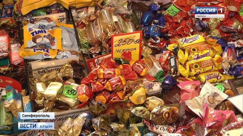 Откуда цукерки: на крымских прилавках продают конфеты Рошен производства Украины