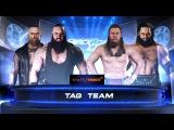 SBW SmackDown - Aleister Black &amp  Braun Strowman vs Daniel Bryan &amp Bram Tag Team match