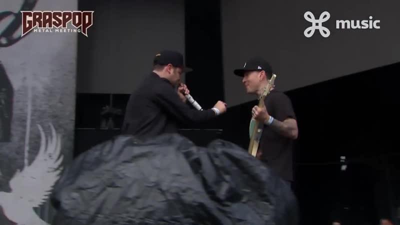 2018-06-22 Graspop Hollywood Undead Enter Sandman Du Hast cover
