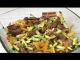 Вкуснейший салат с огурцами и говядиной