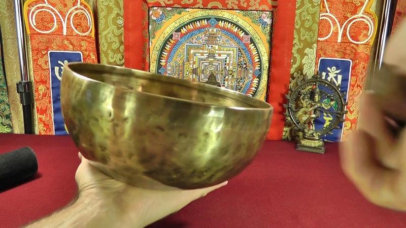 Поющая чаша кованая Блэк Антик, 25 см, Си, 121 Гц