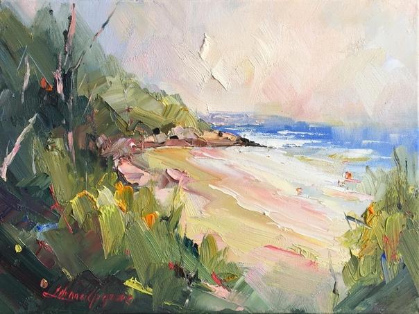 Художница из Австралии Liliana Gigovic (Лилиана Гигович в своих работах мастерски передает эфемерные сцены моря.Ее выразительные морские пейзажи изображают изменчивую погоду и калейдоскопические