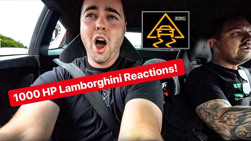 REACTIONS TO 1000 HP TURBO LAMBORGHINI WITH NO TRACTION CONTROL! *VEHICLE VIRGINS THE STRADMAN*