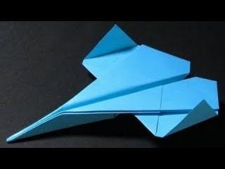 ИЗ БУМАГИ, ИСТРЕБИТЕЛЬ, ОРИГАМИ, САМОЛЁТ , Paper Airplane Tutorial | Fighter