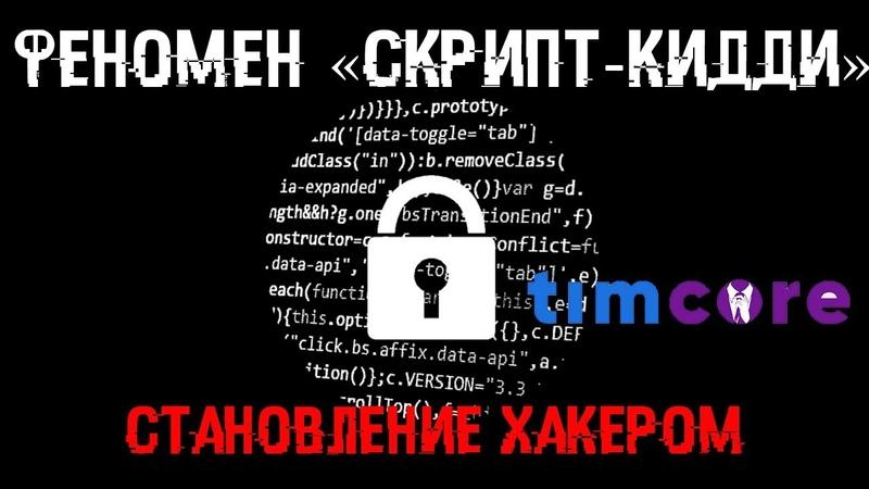 Феномен Скрипт кидди Становление хакером Timcore