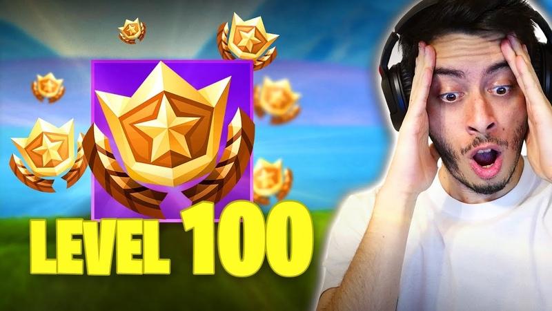 CHEGUEI NO NÍVEL 100! FINALMENTE!! - Fortnite