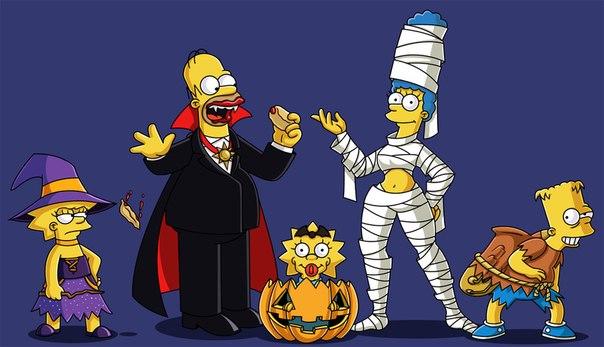мультики симпсоны хэллоуин все серии на русском