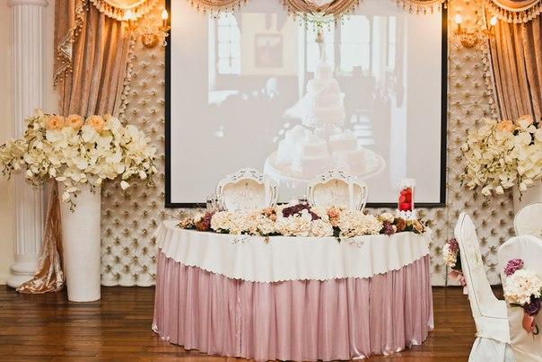 Красивый свадебный стол