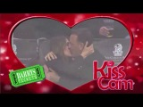 Actor Tom Hanks and his celebrity wife Rita Wilson appears on the LA Kings Kiss Cam and doesn't dissapoint!