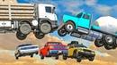 Большие машины Монстр Трак Прыжки на ТРАМПЛИНЕ Мультики про машинки Все серии подряд для мальчиков
