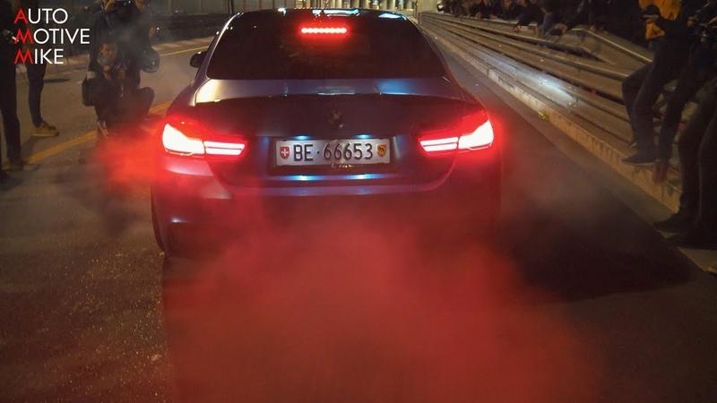 BMW M4 F82 w/ AKRAPOVIC EXHAUST - BURNOUTS ACCELERATIONS!
