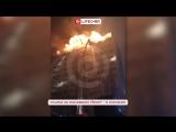 В центре Грозного горит 12-этажный жилой дом
