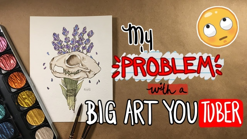 My PROBLEM with a BIG YOUTUBER   Sketchbook Storytime   Emily Artful