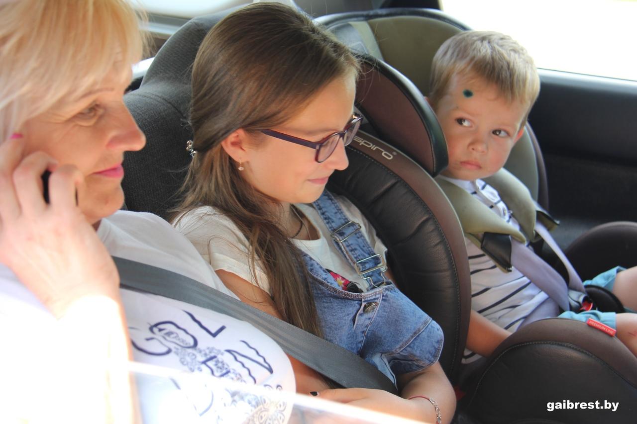 Сотрудники ГАИ проконтролировали, как перевозят детей в салоне автомобилей