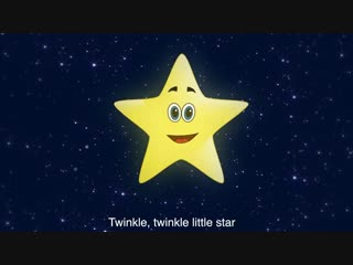 Twinkle, Twinkle Little Star - Animated Cartoon Nursery Rhyme song with lyrics (Patty Shukla)