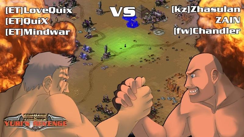 Red Alert 2 Yuri's Revenge - INTENSE PRO 3 vs 3 Game on the map Tour of Egypt