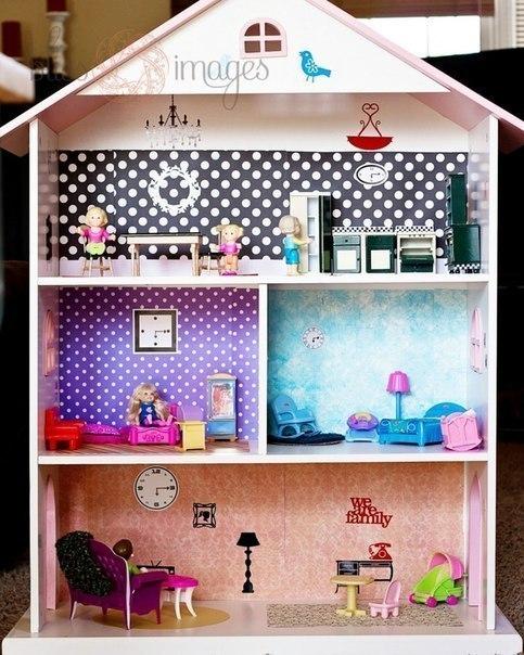 Идеи для кукольного домика своими руками из коробки