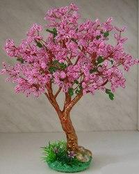 Дерево Сакура из бисера, схема, мастеркласс, фото.