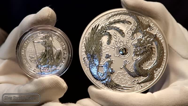 ЭТО ШЭ-ДЭ-ВВРРР! 10 унцовая серебряная монета Дракон и Феникс!