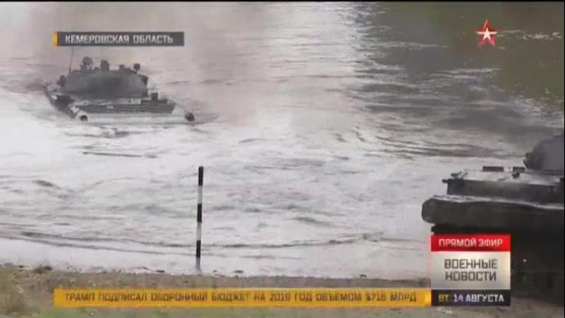 Движение вброд танкисты ЮВО вслепую провели танки Т 90А под водой