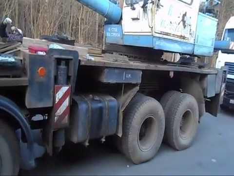 Автокран Камаз, поломка в дороге, умер или ЕЩЕ ПОХОДИТ?) Работа на выезде, фирма Альбатрос