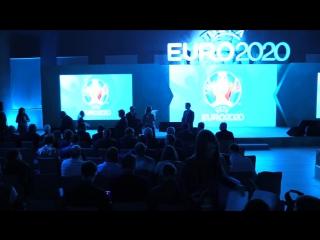 Презентация официальной эмблемы Санкт-Петербурга UEFA EURO 2020.