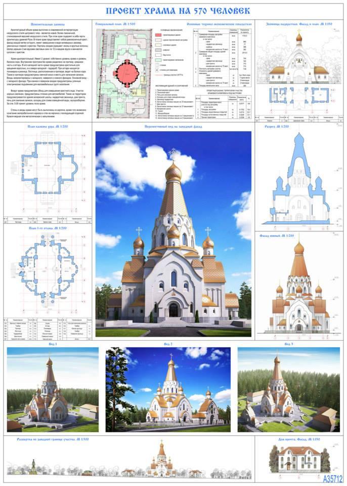 Современное архитектурное решение образа православного храма