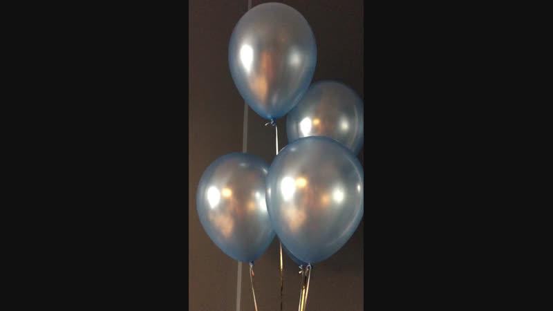 Голубые перламутровые шары