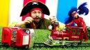 Леди Баг и поезд с Акумой! Видео с игрушками супергерои.
