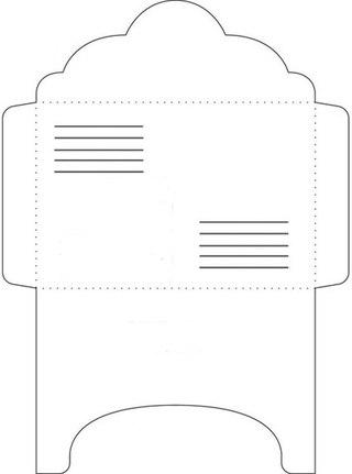 трафарет простого конверта