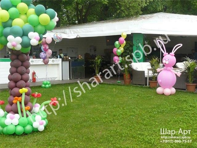 фигуры из шаров на день рождение