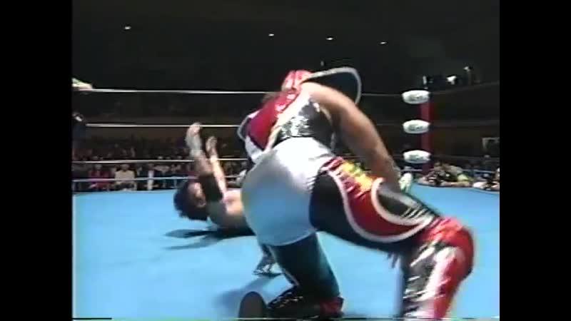 1998.06.05 - Gran Naniwa/Super Delfin vs. Satoru Asako/Yoshinobu Kanemaru [CLIPPED]