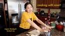 Making vegan tteokguk 떡국 cooking with nina