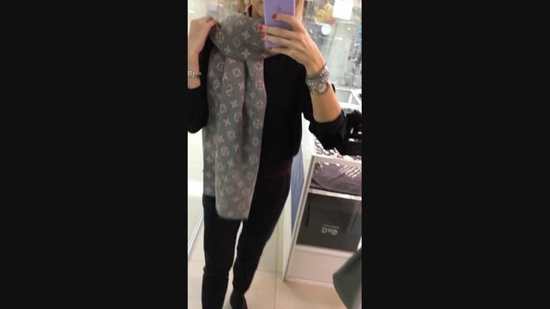💕серо пудровый шарф ☑️СУПЕР ЦЕНА 999₽