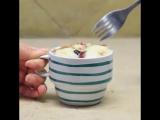Кекс, омлет и пирог в чашке ?