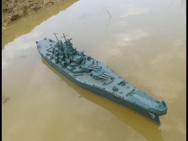 Линкор Missouri из пластилина 14 кг и почти не затопляемый корабль