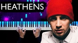 Twenty one pilots - Heathens Piano tutorial Sheets