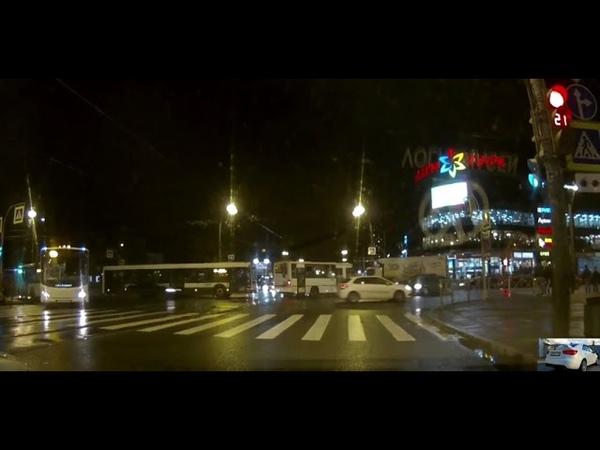 Авария ( ДТП ) в Спб. На проспекте Науки , не пропустили встречное авто