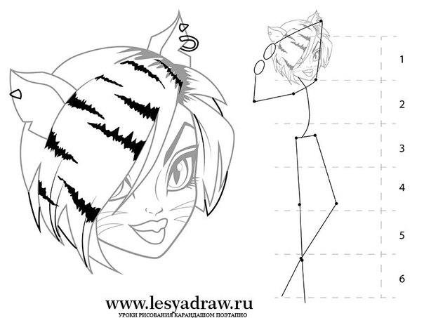 Как нарисовать Монстр Хай Торалей