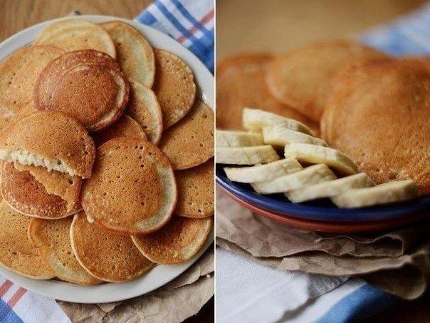 (любители блинчиков и бананов, - все сюда!)  Ингредиенты для чудо-панкейков: - спелый банан  - стакан..