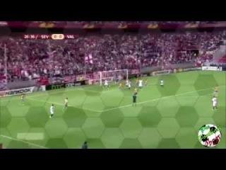 Севилья - Валенсия (2:0) обзор матча 1/2 Лиги Европы