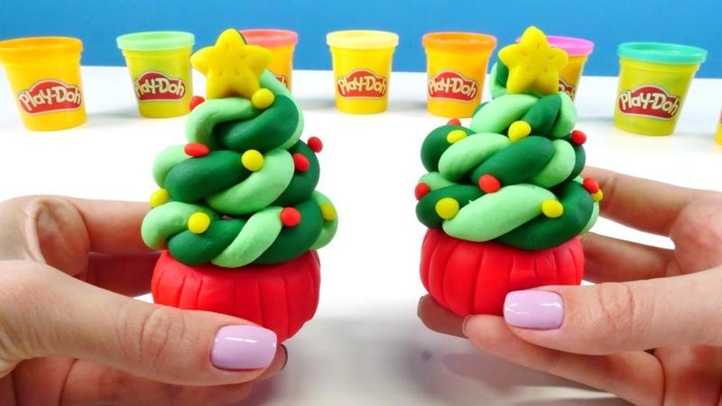 Hamur oyunları. Play-Doh yeni yıl cupcake yapalım