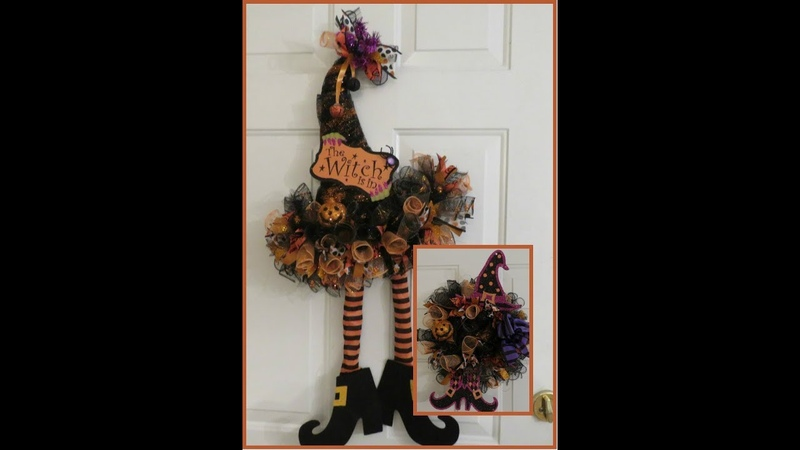 Tricias Creations Halloween Witchy Hat Wreath with Bonus Craft!