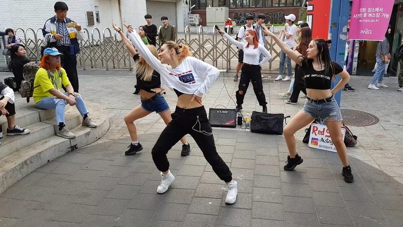 20190515 홍대버스킹 매일반가운 외국 미녀댄스팀 (0308) - RED SPARK _ Korea Team