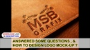 CorelDraw Tutorials HOW TO DESIGN LOGO MOCK-UP ? ANSWERED SOME QUESTIONS