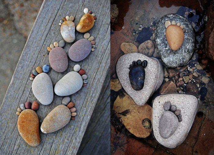 Рисунки и поделки из камней 12