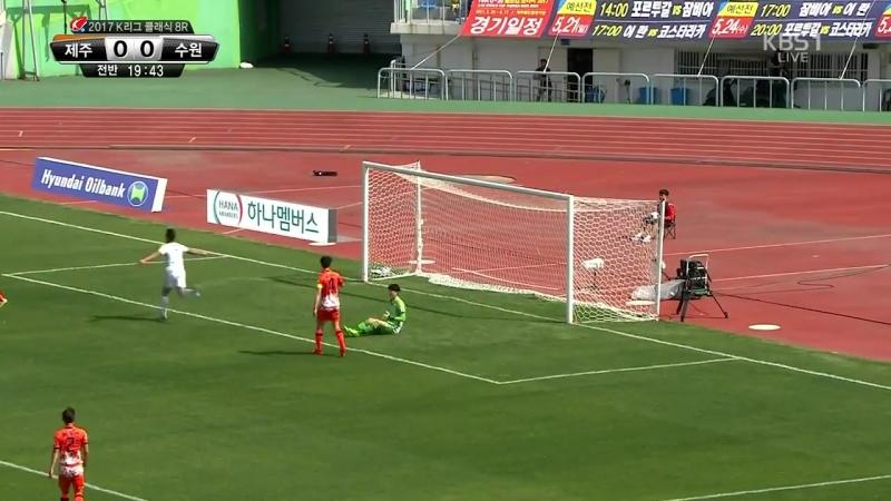 Cracking long range goal from Minwoo Kim (Suwon) vs Jeju United