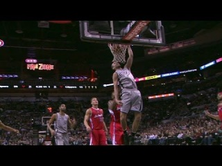 Manu Ginobili's Emphatic Dunk | Clippers vs Spurs | January 4, 2014 | NBA 2013-2014 Season