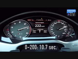 Audi S8 plus (605hp) - 0-300 km_h acceleration (60FPS)