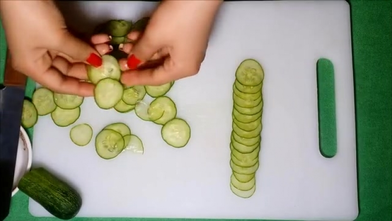 How To Make Cucumber Rose Garnish - Cucumber Carrot Carving Cutting Techniques.mp4